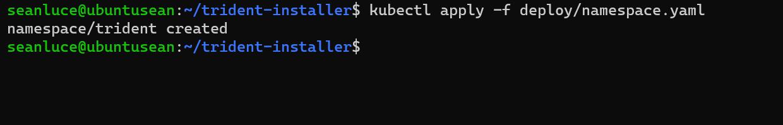 Install Trident Operator