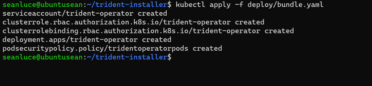 Install Trident CRD